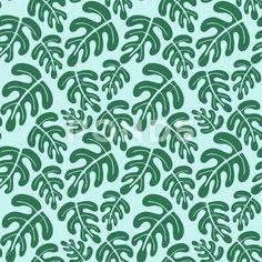 Tropical leaves seamless pattern - Стоковая иллюстрация | by olgart