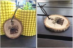 Bark ornaments & coasters have been very popular lately. How in-tree-guing! Wooden Ornaments, Fort Collins, How To Make Ornaments, Coasters, Recycling, Rustic, Popular, Unique, Coaster