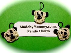 Made by Mommy's Panda Bear Charm on the Rainbow Loom - YouTube