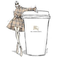 "6,326 Likes, 67 Comments - Megan Hess (@meganhess_official) on Instagram: ""Would you like a GIANT creamy @burberry Latte for your coffee today?!... I'll take mine with a side…"""