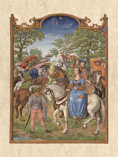 Breviarium Grimani - Mai - Horses in the Middle Ages - Wikipedia, the free encyclopedia