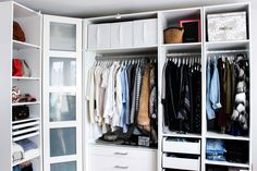 My dressing room & tips for the PAX wardrobe - All About Closet Drawers Ikea, Ikea Closet Storage, Ikea Closet Doors, Ikea Closet System, Ikea Closet Hack, Ikea Hack Bedroom, Ikea Pax Wardrobe, Closet Hacks, Wardrobe Closet
