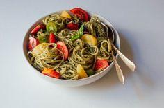 Creamy Pesto Pasta with Fresh Tomatoes, a recipe on Food52
