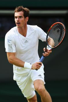 Andy Murray of Great Britain during his Gentlemen's Singles second round match against Blaz Rola of Slovenia on day three of the Wimbledon Lawn Tennis Championships at the All England Lawn Tennis and Croquet Club at Wimbledon on June 25, 2014 in London, England. (Photo by Matthew Stockman/Getty Images)