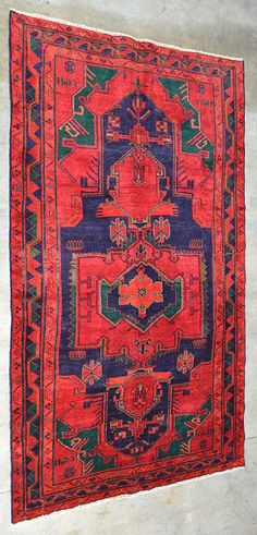 A KOHI VILLAGE WEAVE FROM THE LORESTAN PROVINCE ORIGIN: PERSIA  Inscribed 1987.  262cm x 150cm