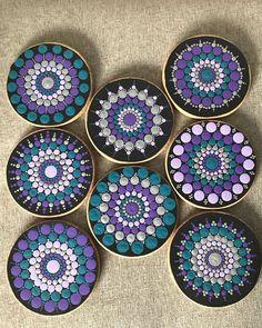 An order for mandala coasters I've been working on this week! Dot Art Painting, Mandala Painting, Mandala Art, Mandala Pattern, Mandala Design, Old Cd Crafts, Mandala Jewelry, Mandala Rocks, Art Drawings Sketches