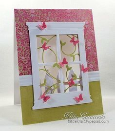 Bailiwick Window Vines and Butterflies by kittie747 - Cards and Paper Crafts at Splitcoaststampers