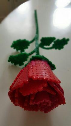 #Hama #perler #beads #hamabeads #perlerbeads #rose #valentinesday #flower