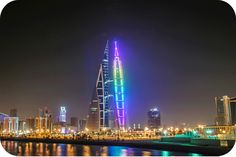 Bahrain is a banking and financial services centre; its small and reasonably prosperous economy is less dependent on oil than most Gulf states. Arab World, World Trade Center, Burj Khalifa, Empire State Building, Middle East, Modern Architecture, Skyscraper, Tower, Centre
