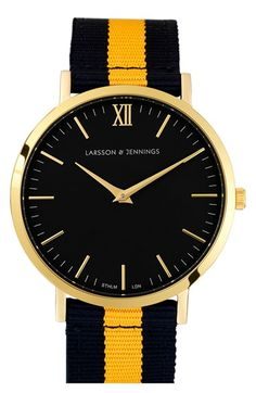 Larsson & Jennings 'Kulör' Nylon Strap Watch, 40mm