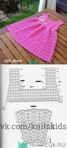 ideas for crochet baby clothes girl dress patterns Crochet Baby Dress Pattern, Girl Dress Patterns, Crochet Baby Clothes, Baby Knitting Patterns, Baby Patterns, Crochet Patterns, Crochet Girls, Crochet For Kids, Toddler Christmas Dress