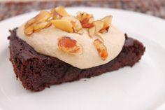 Vegan Grain-free Avocado ChocolateCake - not really vegan, has yogurt in it