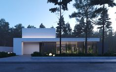House in the Pines on Behance Behance facade House Pines Minimalist Architecture, Modern Architecture House, Residential Architecture, Modern House Design, Interior Architecture, Computer Architecture, Vintage Architecture, Japanese Architecture, Architecture Portfolio