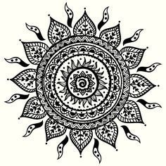 ... Sun Mandala on Pinterest | Tattoos Lotus Mandala and Mandala Tattoo