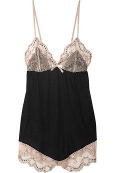 Orianna lace-trimmed jersey playsuit