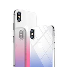 [US$11.99] Baseus Gradient Color 0.3mm 9H Back Tempered Glass Film for iPhone X  #03mm #back #baseus #color #film #glass #gradient #iphone #tempered