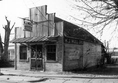 The general store building at 321 Valdese Avenue in Morganton, near the Forest Hill Cemetery was a typical small neighborhood store. It was built about 1900 by Monroe Haywood Mull (1848-1938). Harold J. Mull bought the store and ran it until 1967. B. Rondal Mull contributed this photograph. Picture Burke is a digital photograph preservation project of the NC Room of the Burke County Public Library.