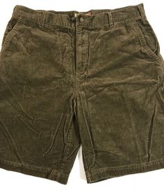 KAHALA Shorts Sz 36 Flat Front Brown Corduroy Cotton Mens Sporty Casual Dress  | eBay