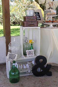 Decor from a Vintage Shabby Chic Wedding via Kara's Party Ideas | KarasPartyIdeas.com (16)