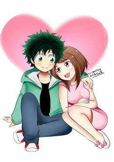 Midoriya and uraraka by my hero academia my hero a