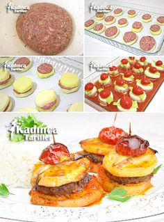 Baked Meatball Potato Recipe, How to Make, Meat foods Turkish Recipes, Italian Recipes, Potato Recipes, Meat Recipes, Turkish Sweets, Meatball Bake, Turkish Kitchen, Iftar, Fresh Fruits And Vegetables