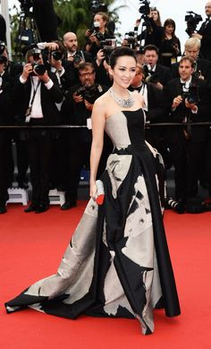red carpet - Zhang Ziyi in Carolina Herrera at Cannes Film Festival 2013
