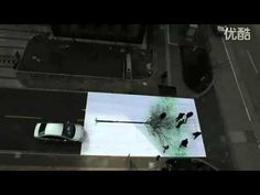 Green Pedestrian Crossing - China Environmental Protection Fund (2010 Campaign). green marks made by pedestrians crossing at the junction #video #environment