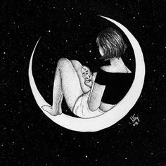 Find images and videos about girl, art and cool on We Heart It - the app to get lost in what you love. Cartoon Drawings, Art Drawings, Eerie Photography, Black Paper Drawing, Sad Art, Cute Cartoon Wallpapers, Sketch Inspiration, Moon Art, Unique Art