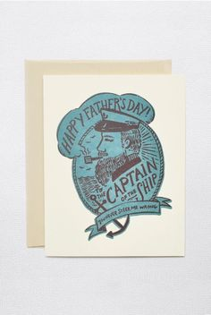 Father's Day is Sunday 6 Augsut in Australia 2015. #fathersday Hello Lucky - Single Card - Captain of the Ship