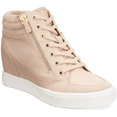 Aldo Women's Ottani Wedge Sneakers ($85) ❤ liked on Polyvore featuring shoes, sneakers, nude, nude shoes, aldo footwear, aldo, wedged sneakers and wedge sneakers