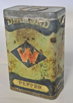 Rare Tin. Diamond Pepper Tin. Packaged By by DomesticTitanVintage
