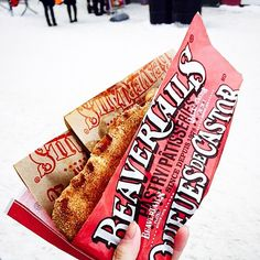 A classic winter shot of a classic winter pastry :) High fives for BeaverTails! via Emily Lu (@emmmlulu) on IG