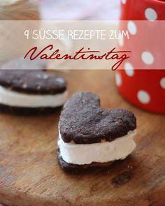 9 süße Rezepte zum Valentinstag - Rezeptideen für Zwei - kleine Kuchen, Torten, Cupcakes und Herzkekse