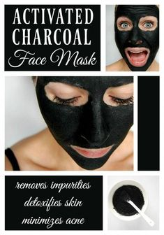 Activated Charcoal Face Mask - This lovely little mask is amazing at killing bacteria, getting rid of acne, and giving your face a nice deep cleaning, plus its a fun way to scare family members. #OrganicSkinCareHomemade #FaceMaskForBlackheads Diy Peel Off Face Mask, Diy Face Mask, Face Scrub Homemade, Homemade Face Masks, Homemade Facials, Beauty Products To Make At Home, Activated Charcoal Face Mask, Charcoal Face Mask Diy, Charcoal Face Pack