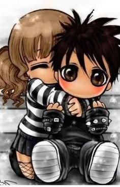chibi couple holding hands Cars For Sale Cute Cartoon Pictures, Cute Pictures, Amor Emo, Cute Emo Couples, Cute Chibi Couple, Cholo Art, Doll Tattoo, Gothic Fantasy Art, Emo Art