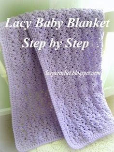 I have made a detailed tutorial for the Lacy Baby Blanket, which is the most popular item on my blog. The tutorial consists of several ...