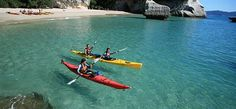 Cathedral Cove Kayak Tours offer some of the best sea-kayaking available in New Zealand! Half and full day tours to give you the opportunity to appreciate this coastline in the best possible way. Adventure Tours, Adventure Travel, New Zealand Adventure, Bus Pass, Kayak Tours, Camping Holiday, Beach Trip, Beach Travel, Southeast Asia
