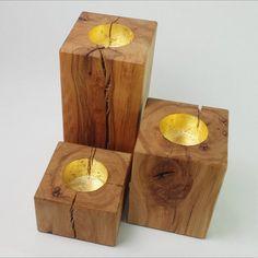 Wood Tea Light Holder, Modern Candle Holders, Wood Candle Holders, Candle Stands, Linseed Oil, Handmade Wooden, Woodworking Crafts, Cubes, Candlesticks