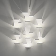 """Set"" by J Ll Xuclà for Vibia. Another great modular design from Vibia. Arrange as many of the modules wherever you like to create patterns of light and dark. Diy Luminaire, Luminaire Design, Lamp Design, Light Art, Lamp Light, Light Bulb, Led Lampe, Cool Lighting, Futuristic Lighting"