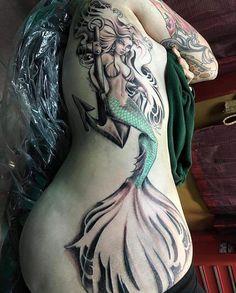 Exotic mermaid tattoo idea