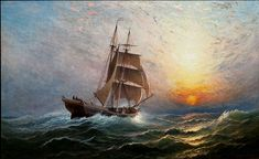 Charles Henry Gifford - Brigantine at Sunset