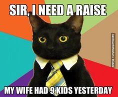 Sir, I need a raise