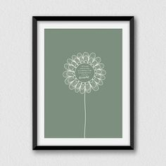 A Flower...Printable inspirational and decorative by Cartelmania