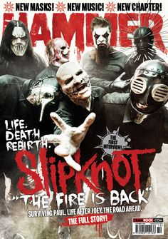 MHR262 Slipknot cover from 2014 for Metal Hammer Magazine in the UK.