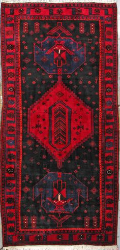 "Buy Nahavand Persian Rug 4' 11 "" X 10' 10"", Authentic Nahavand Handmade Rug"