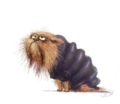 Wiebke Rauers Illustration Animal Sketches, Animal Drawings, Cute Monsters, Cartoon Pics, Whimsical Art, Cute Illustration, Dog Art, Cute Drawings, Cute Art