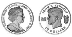British Virgin Island Kennedy Ten Dollar 2013