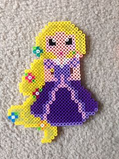 Rapunzel Tangled perler beads by Amy Johnson Castro