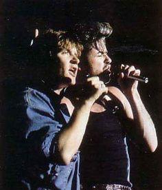 George with Simon Le Bon (Duran Duran)