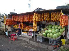Fruit stand in Ecuador